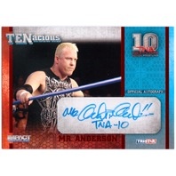 MR. ANDERSON 2012 TNA Impact Tenacious Red Auto Card 9/10 Signed Card #TEN14  (x)