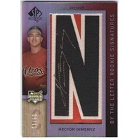 HECTOR GIMENEZ 2007 SP Authentic By The Letter N Rookie Autograph 1/50 Card Auto