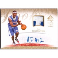 AL THORNTON 2007-08 SP Authentic Prime Jersey Prime Patch Auto Rookie Card /599