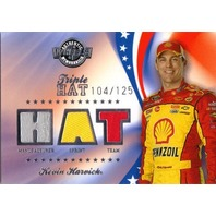 KEVIN HARVICK 2008 Wheels American Thunder Triple Hat Race Used Sprint Card /125