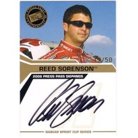 REED SORENSON 2008 Press Pass Signings Gold Autograph 17/50 On Card Auto