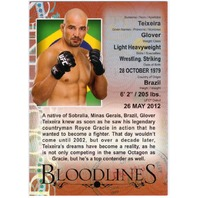 TEIXEIRA GLOVER 2013 Topps UFC Bloodlines Red Parallel #BL-GT  4/8