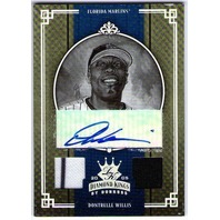 DONTRELLE WILLIS 2005 Diamond Kings Autograph Dual Jersey Swatch 10/10 Auto Card