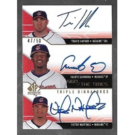 HAFNER/CARMONA/MARTINEZ 2008 SP Authentic Sign of the Times Signatures auto /50