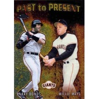 WILLIE MAYS BARRY BONDS 2001 Topps Chrome Past to Present Card GIANTS BV$20