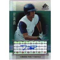 FERNANDO PEREZ 2004 Draft Pick SP Prospects Autograph Bonus 52/400 Auto Card