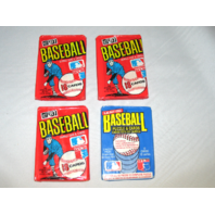 3 Packs 1981 Donruss Baseball Wax Packs & 1 Pack 1986 Leaf Baseball Wax Pack Lot