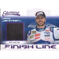 JIMMIE JOHNSON 2011 Element Finish Line Purple Fast Pass Race Tire Card 21/30
