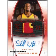 SHELDEN WILLIAMS 2006-07 Red Hot Prospects Auto Prime Patch Rookie Card 27/50
