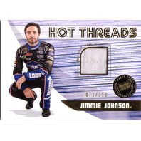 JIMMIE JOHNSON 2011 Press Pass Premium Hot Threads Race Worn Firesuit Card /150
