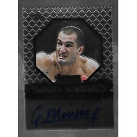 GEGARD MOVSASI 2011 Leaf UFC MMA Metal Famous Nicknames Signature auto FMGM1