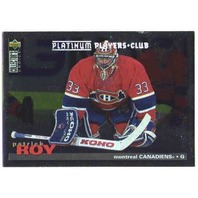 PATRICK ROY 1995-96 Upper Deck Collector's Choice Platinum Players Club UD 95-96