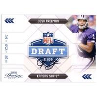 JOSH FREEMAN 2009 Playoff Prestige NFL Draft Autograph Rookie Auto Card 95/100