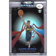 ANDRIS BIEDRINS 2004-05 Topps Pristine Uncirculated Refractor Card 1/49 Rookie