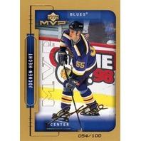 JOCHEN HECHT 1999-00 Upper Deck MVP Gold Script #188 Rookie Auto Card 54/100