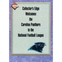 1993 Collector's Edge #326 Panthers Insert Induction Into the NFL League Card