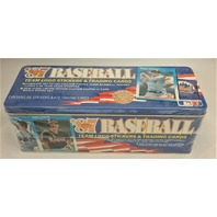 1987 Fleer Baseball Blue Tin Factory Set Sealed