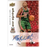 MAURICE WILLIAMS 2008-09 Upper Deck Star Signings Gold Auto Card RC 13/25