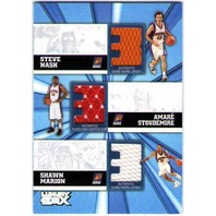 NASH STOUDEMIRE MARION 2005-06 05/06 Topps Luxury Box Trinity Jersey Card /250