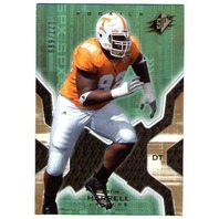 JUSTIN HARRELL SPX Gold ROOKIE Card 2007 Upper Deck RC Parallel 77/699
