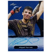 MIGUEL TORRES 2011 Leaf Metal Blue UFC MMA Refractor Auto 19/25 Card #BAMT1