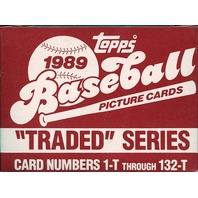 1989 Topps Traded Series Set Box HOF Ken Griffey Jr Randy Johnson Rookie RC