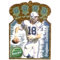 PEYTON MANNING 1999 Pacific Gold Crown Die Cuts Insert Card #17