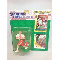 1993 Joe Montana NFL Starting Lineup Sports Superstar Collectibles Kansas City KC Chiefs Special Series Card Included Aerial Artist San Francisco SF 49ers
