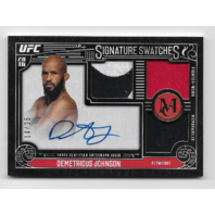 DEMETRIOUS JOHNSON 2016 UFC Topps Signature Swatches auto /25 3 swatch autograph
