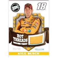 KYLE BUSCH 2009 Premium Hot Threads Race-Used Firesuit Yellow 79/99 Card M&M's