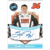 SCOTT RIGGS 2009 Press Pass Premium Signatures Autograph Auto Card