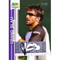 JANKO TIPSAREVIC 2013 Ace Authentic Grand Slam Purple 6/25 Tennis Auto Card