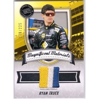 RYAN TRUEX 2011 Fanfare Magnificent Materials Race Used 3-Color Firesuit Card