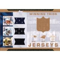 REGGIE BUSH DE'ANGELO WILLIAMS LAURENCE MARONEY 2007 SPx Winning Trios Jersey Card #LDR  (x)