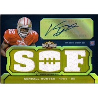 KENDALL HUNTER 2011 Topps Triple Threads Gold Rookie Autograph Jersey Card 15/25