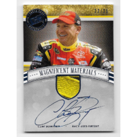 Clint Bowyer NASCAR 2012 Fanfare Press Pass  Magnificent Materials autograph MMSE-CB  (x)