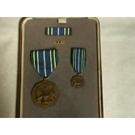 Army Acheivement (AAM) Presentation Set - Medal (Full & Mini), Ribbon & Lapel Pin