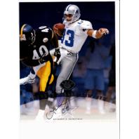 1997 Leaf Authentic Signatures 8x10 Card Anthony Miller Dallas Cowboys Auto