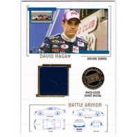 DAVID RAGAN 2007 Press Pass Battle Armor Drivers Race-Used Sheet Metal Card /150