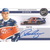 DAVID RAGAN 2009 Press Pass Autographs Silver Autograph Auto On Card #40