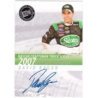 DAVID RAGAN 2007 Press Pass Craftsman Truck Series Rookie Autograph Auto Card