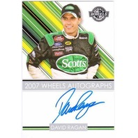 DAVID RAGAN 2007 Wheels Craftsman Truck Series Rookie Autograph Auto On Card #33