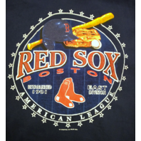 MLB Genuine Boston Red Sox Navy Blue Graphic T-Shirt Men's Size M Baseball