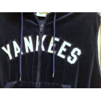 Cooperstown Collection New York Yankees Blue White Full Zip Hoodie Womens XL