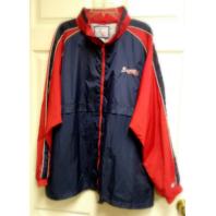 LOGO ATHLETIC  Atlanta Braves Red White Blue Lightweight Jacket Size XL MLB