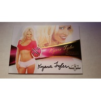 KYARA TYLER 2011 Bench Warmer Bubble Gum Autograph Auto On Card #A6