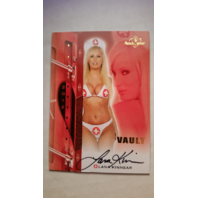Lana Kinnear 2012 Bench Warmer Vault Nurse Autograph Auto On Card #60 Playboy