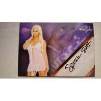 Spencer Scott 2013 Bench Warmer Hobby Lingerie Autograph Auto On Card #18