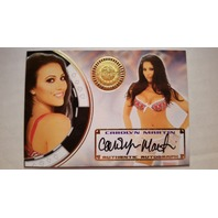 Carolyn Martin 2014 Bench Warmer Vegas Baby Autograph Auto On Card #48 Playboy