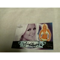 Holly Huddleston 2010 Bench Warmer Signature Series Autograph Auto On Card #92A